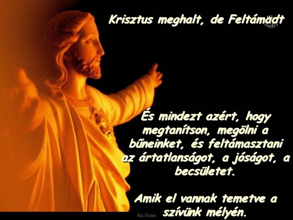 Ria Slides Az álmok és az emlékek feltámadása Az álmok és az emlékek feltámadása És egy igazságnak, ami felette áll a húsvéti tojásnak vagy a csokoládé nyuszinak É ÉÉ És egy igazságnak, ami felette áll a húsvéti tojásnak vagy a csokoládé nyuszinak.