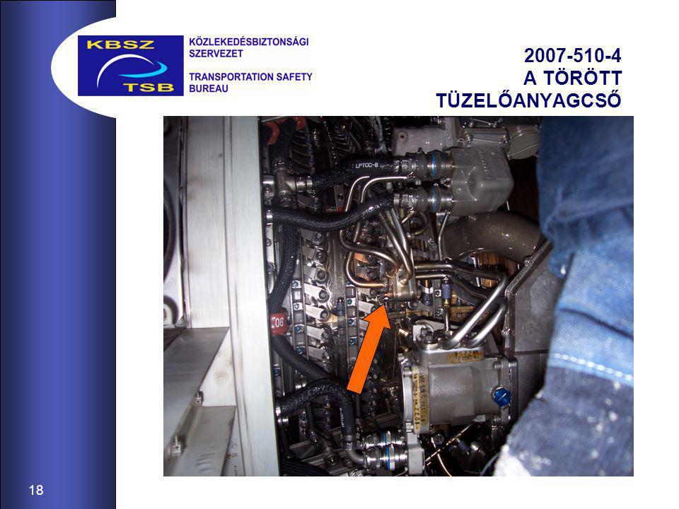 18 2007-510-4 A TÖRÖTT TÜZELŐANYAGCSŐ
