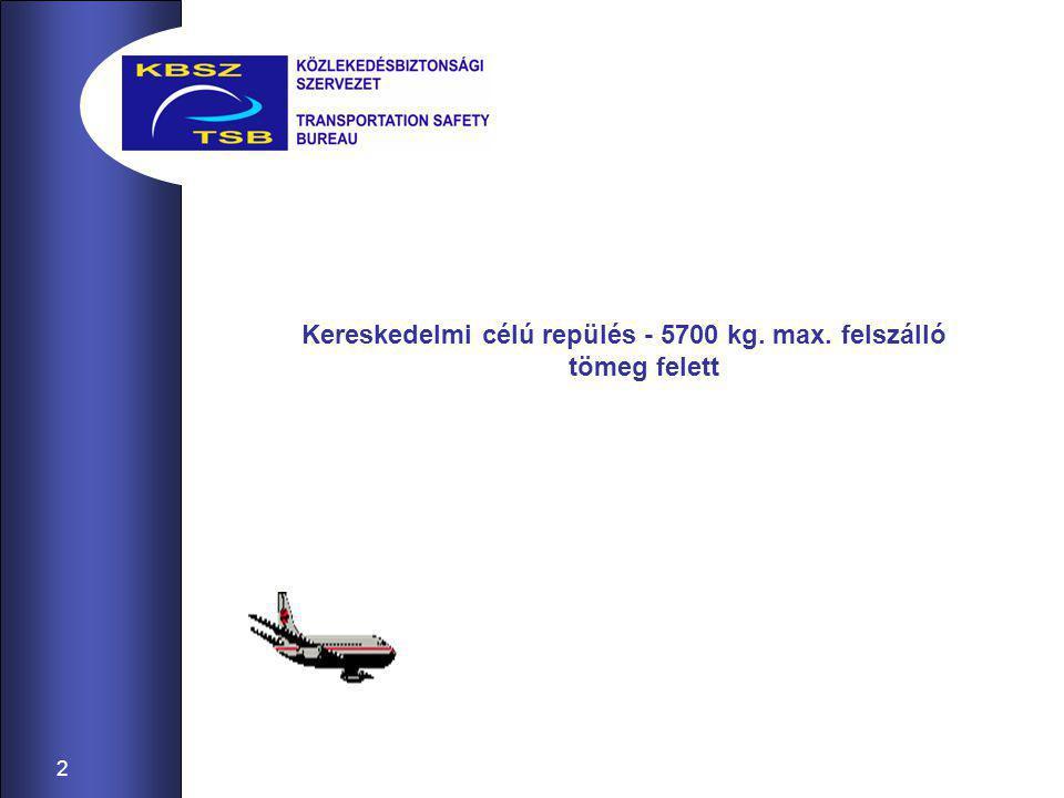 2 Kereskedelmi célú repülés - 5700 kg. max. felszálló tömeg felett