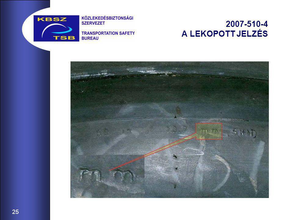 25 2007-510-4 A LEKOPOTT JELZÉS