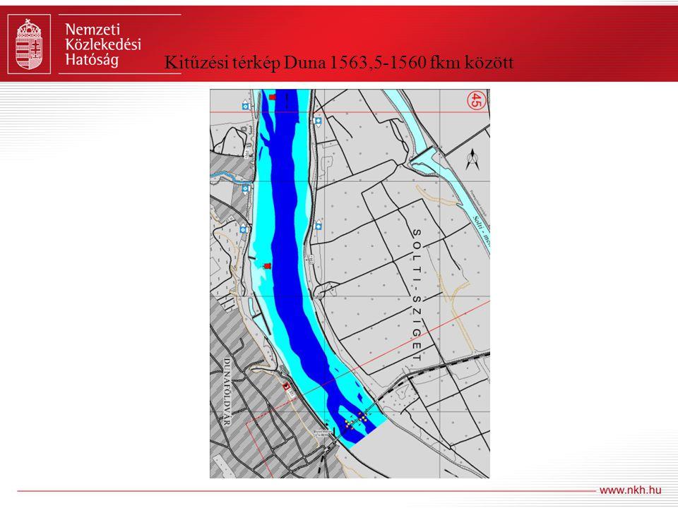 Kitűzési térkép Duna 1563,5-1560 fkm között