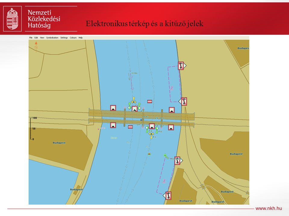 Elektronikus térkép és a kitűző jelek
