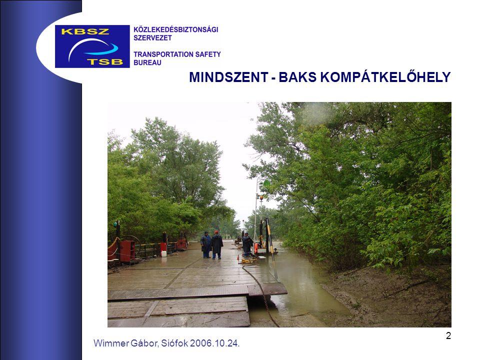 2 Wimmer Gábor, Siófok 2006.10.24. MINDSZENT - BAKS KOMPÁTKELŐHELY