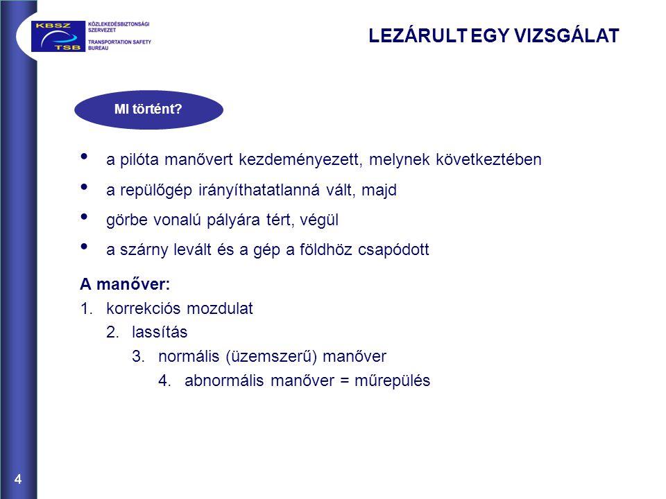 45 Típusdokumentáció Karbantartási kézikönyv XV.