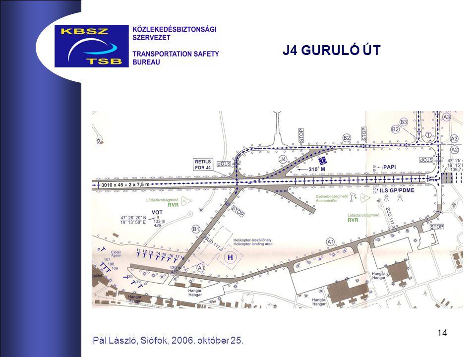 14 Pál László, Siófok, 2006. október 25. J4 GURULÓ ÚT