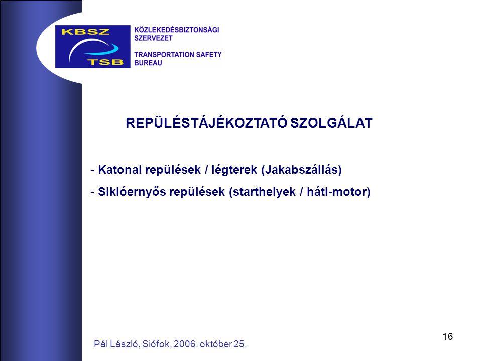 16 Pál László, Siófok, 2006. október 25.