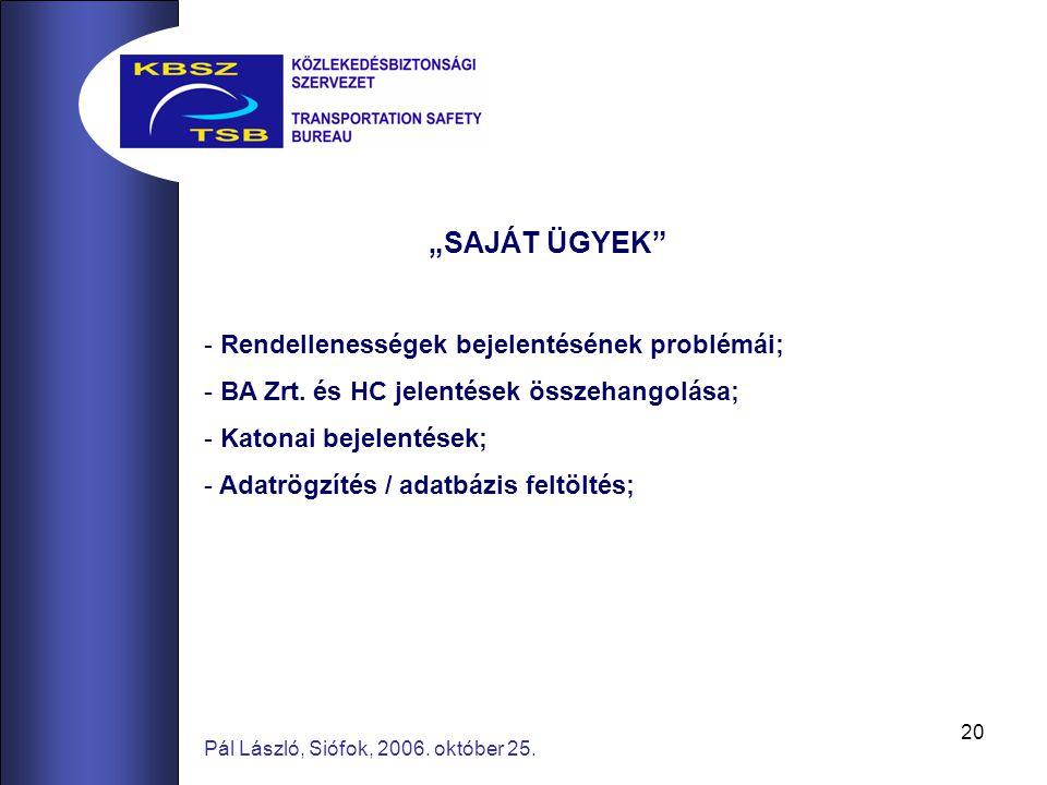 20 Pál László, Siófok, 2006. október 25.