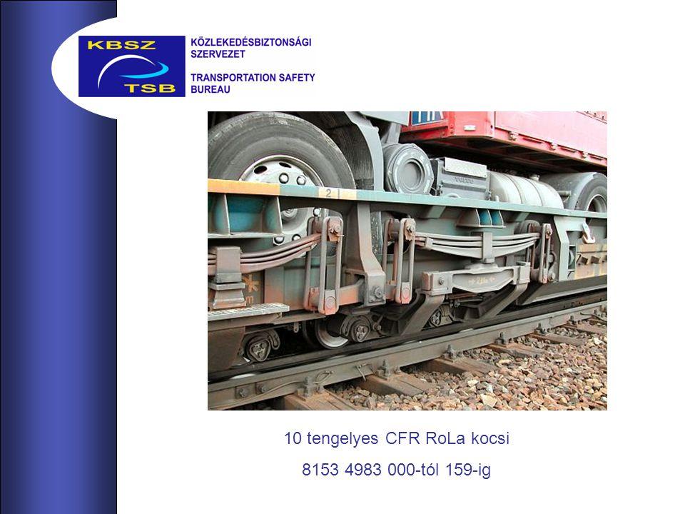 10 tengelyes CFR RoLa kocsi 8153 4983 000-tól 159-ig