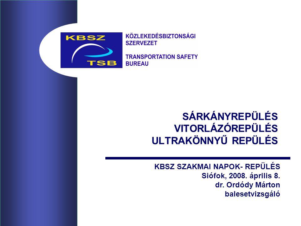 SÁRKÁNYREPÜLÉS VITORLÁZÓREPÜLÉS ULTRAKÖNNYŰ REPÜLÉS KBSZ SZAKMAI NAPOK- REPÜLÉS Siófok, 2008.