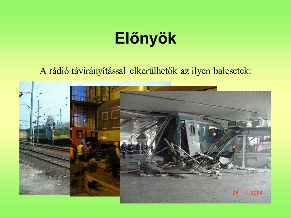 Előnyök A rádió távirányítással elkerülhetők az ilyen balesetek: