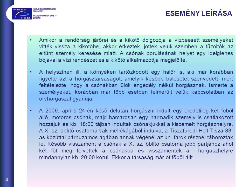 CSÓNAK FELSZERELÉSEI 15