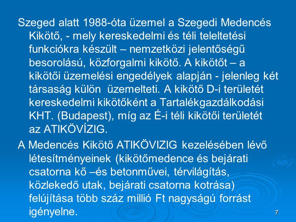 Alsó-Tisza vidéki Környezetvédelmi és Vízügyi Igazgatóság Postacím: H-6720 Szeged, Stefánia 4.