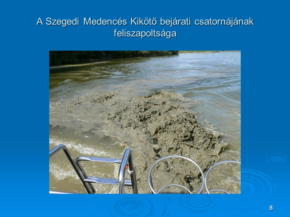 A Szegedi Medencés Kikötő bejárati csatornájának feliszapoltsága 8