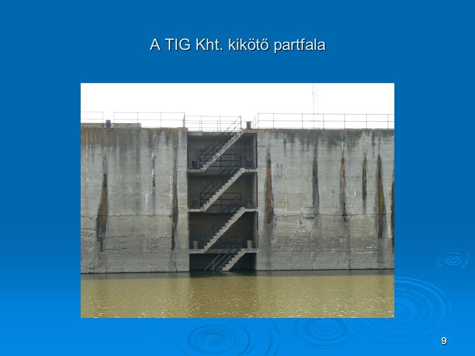 A TIG Kht. kikötő partfala 9
