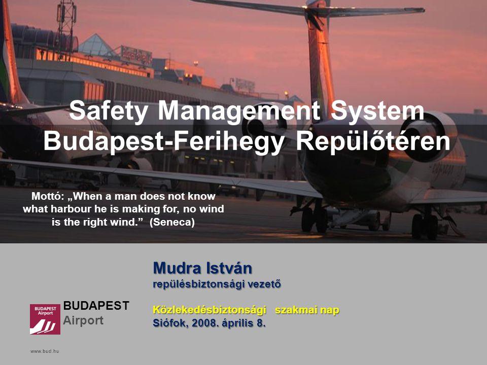 www.bud.hu Click to edit Master title style BUDAPEST Airport www.bud.hu Safety Management System Budapest-Ferihegy Repülőtéren Mudra István repülésbiz