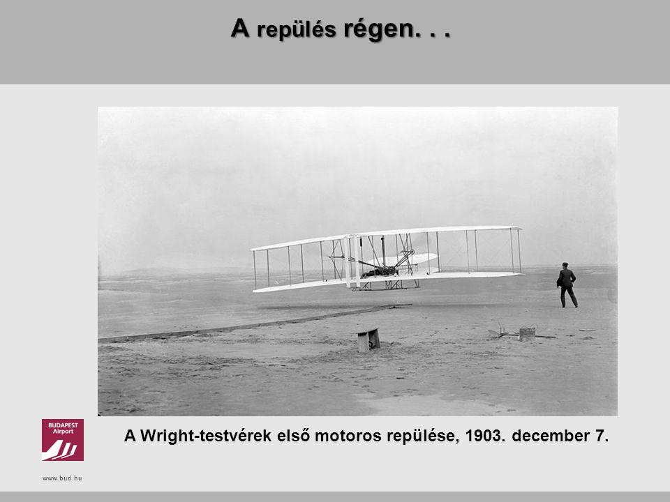 www.bud.hu A repülés régen... A Wright-testvérek első motoros repülése, 1903. december 7.