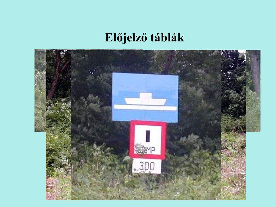 Előjelző táblák