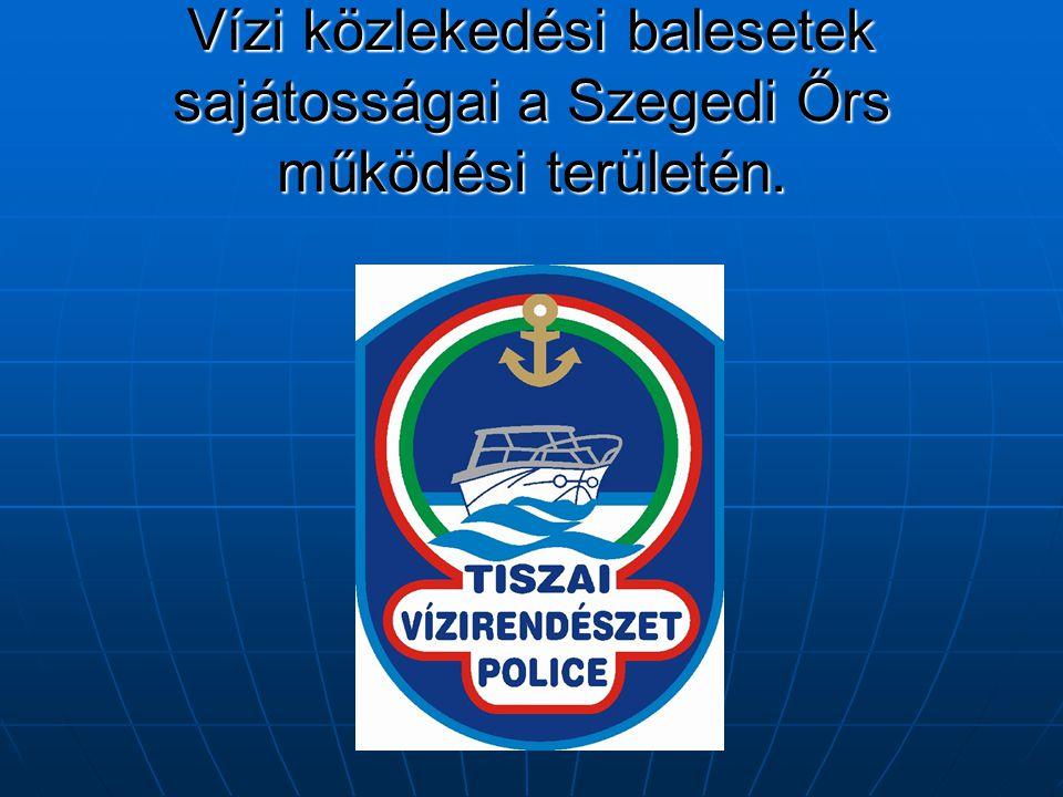 Vízi közlekedési balesetek sajátosságai a Szegedi Őrs működési területén.