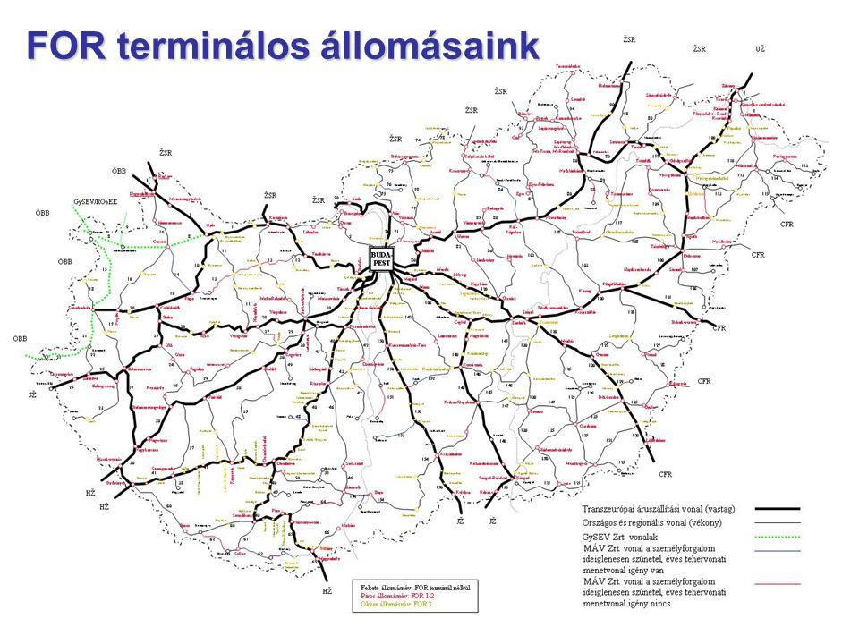 7 FOR terminálos állomásaink