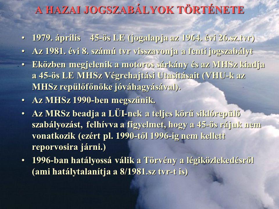 A HAZAI JOGSZABÁLYOK TÖRTÉNETE 1979. április 45-ös LE (jogalapja az 1964. évi 26.sz.tvr)1979. április 45-ös LE (jogalapja az 1964. évi 26.sz.tvr) Az 1