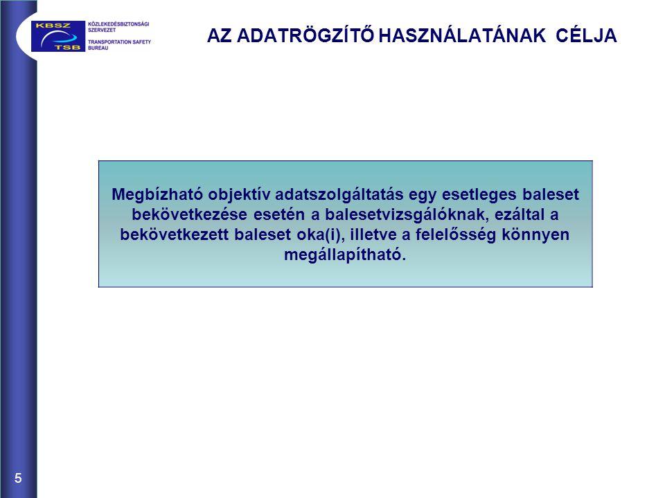A HAJÓZÁSI ADATRÖGZÍTŐ BLOKKDIAGRAMJA 6