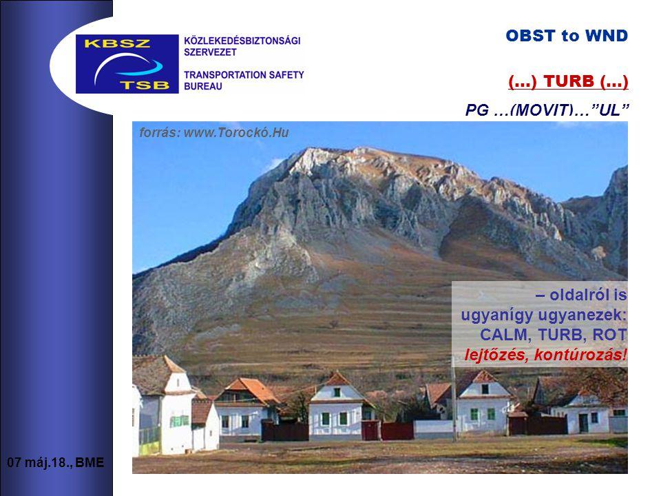 4 07 máj.18., BME a terep mint OBST to WND (csak.