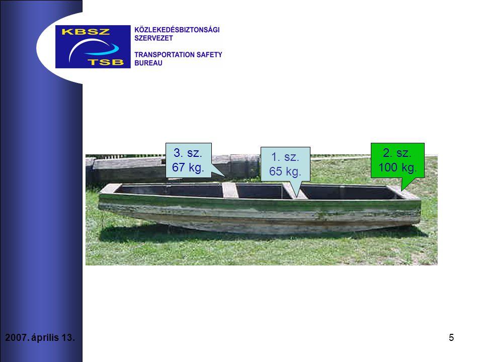 5 2007. április 13. 3. sz. 67 kg. 1. sz. 65 kg. 2. sz. 100 kg.