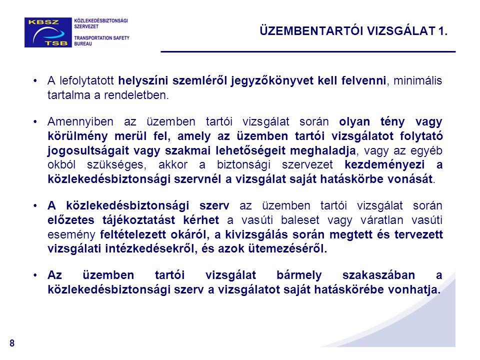 8 A lefolytatott helyszíni szemléről jegyzőkönyvet kell felvenni, minimális tartalma a rendeletben.