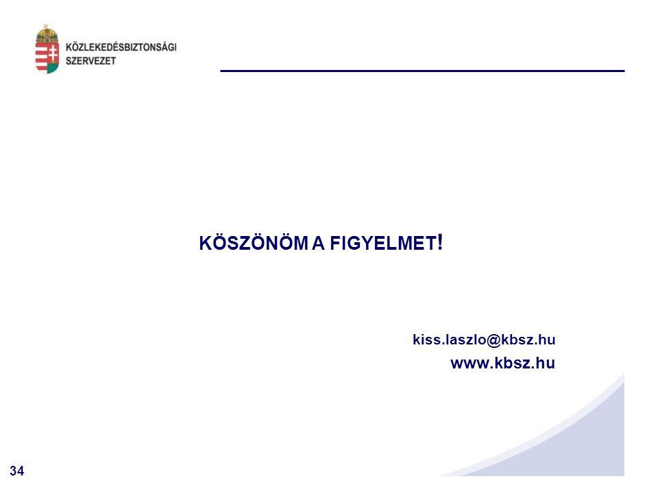 34 KÖSZÖNÖM A FIGYELMET ! kiss.laszlo@kbsz.hu www.kbsz.hu
