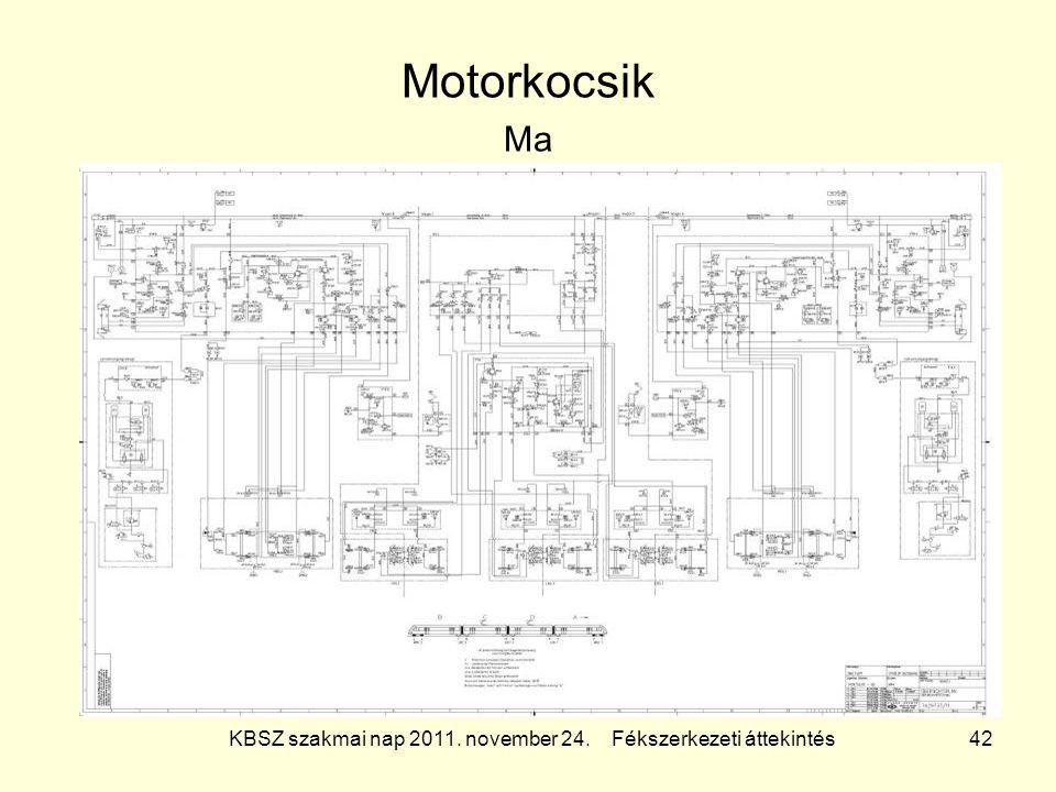 KBSZ szakmai nap 2011. november 24. Fékszerkezeti áttekintés 42 Motorkocsik Ma