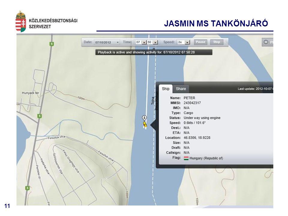 11 JASMIN MS TANKÖNJÁRÓ