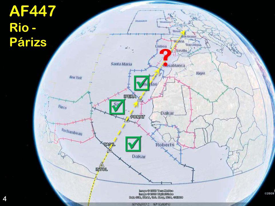 4 AF447 útvonala 4AF447 Rio - Párizs       