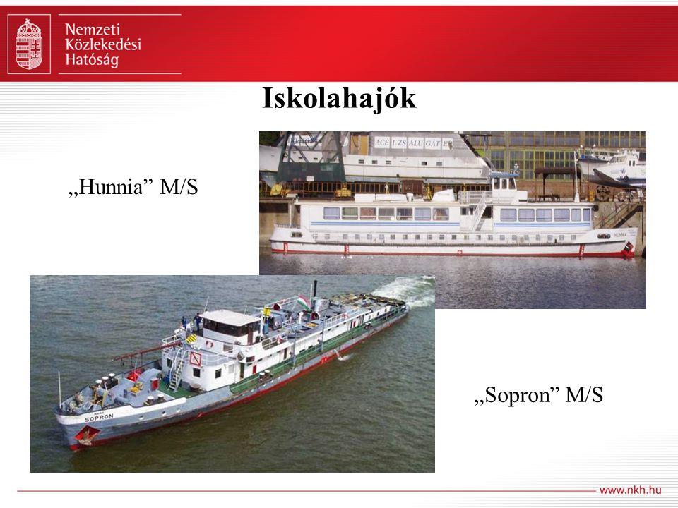 "Iskolahajók ""Hunnia"" M/S ""Sopron"" M/S"