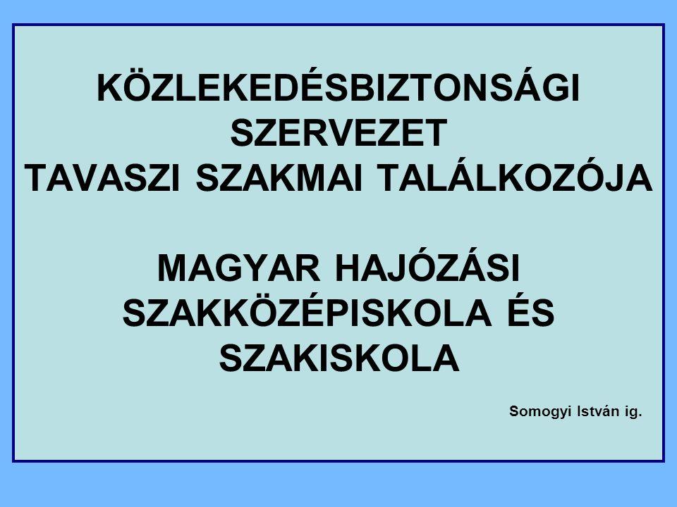 Közlekedési szakmacsoport Küldő iskola Magyar Hajózási Szakközépiskola és Szakiskola Érettségire felkészítő szakasz Szakmai orientáció (9-10.