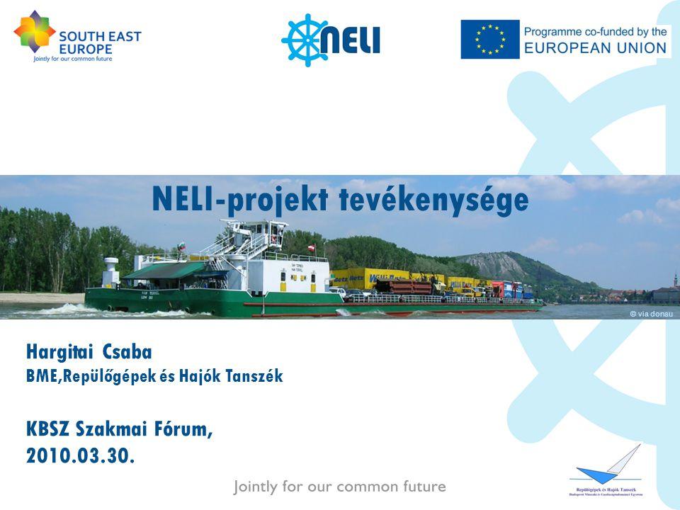 NELI-projekt tevékenysége Hargitai Csaba BME,Repülőgépek és Hajók Tanszék KBSZ Szakmai Fórum, 2010.03.30. © via donau