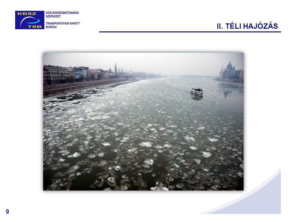 10 A szállítási feladatok megkívánják, hogy a vízi járművek maximálisan kihasználják a hajózási lehetőségeket, ezért az elsődleges jégzajlás számos hajót találhat a nyílt vízen.