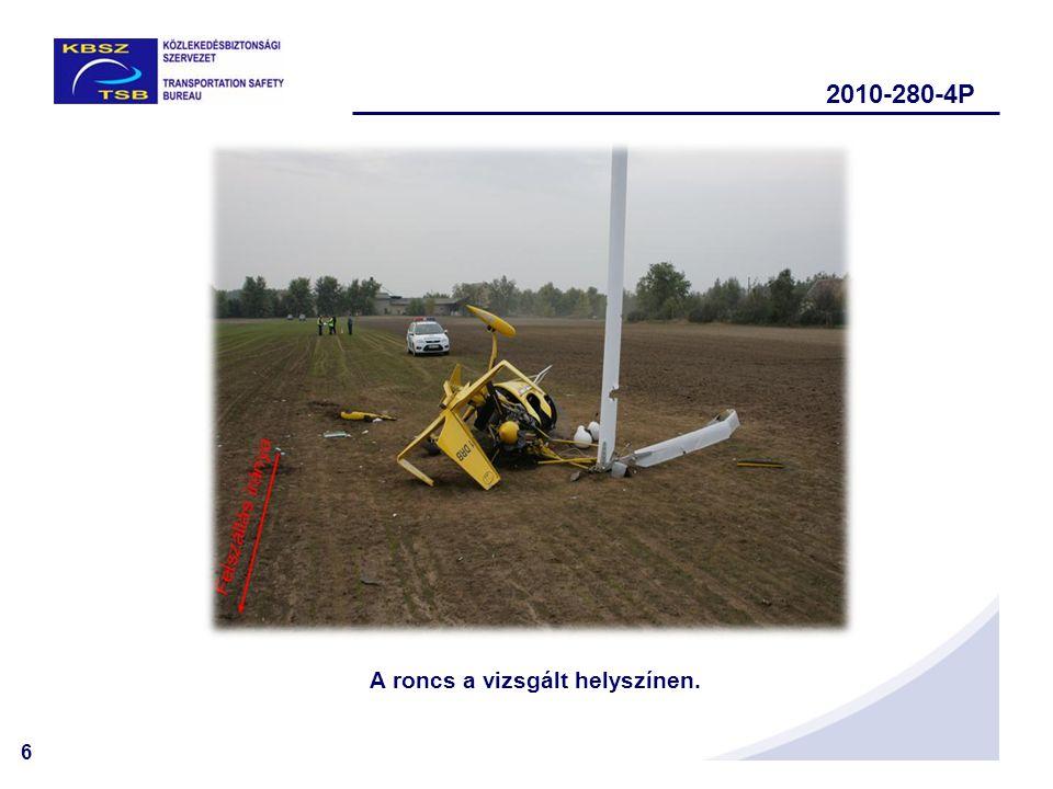 6 A roncs a vizsgált helyszínen. 2010-280-4P