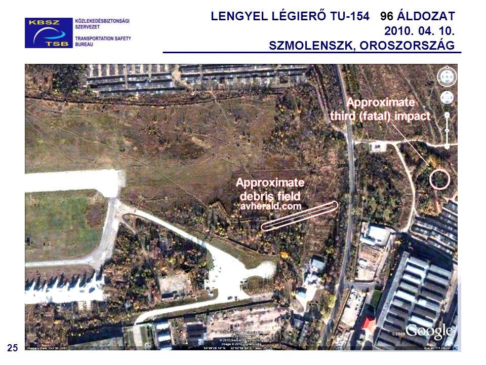 25 LENGYEL LÉGIERŐ TU-154 96 ÁLDOZAT 2010. 04. 10. SZMOLENSZK, OROSZORSZÁG