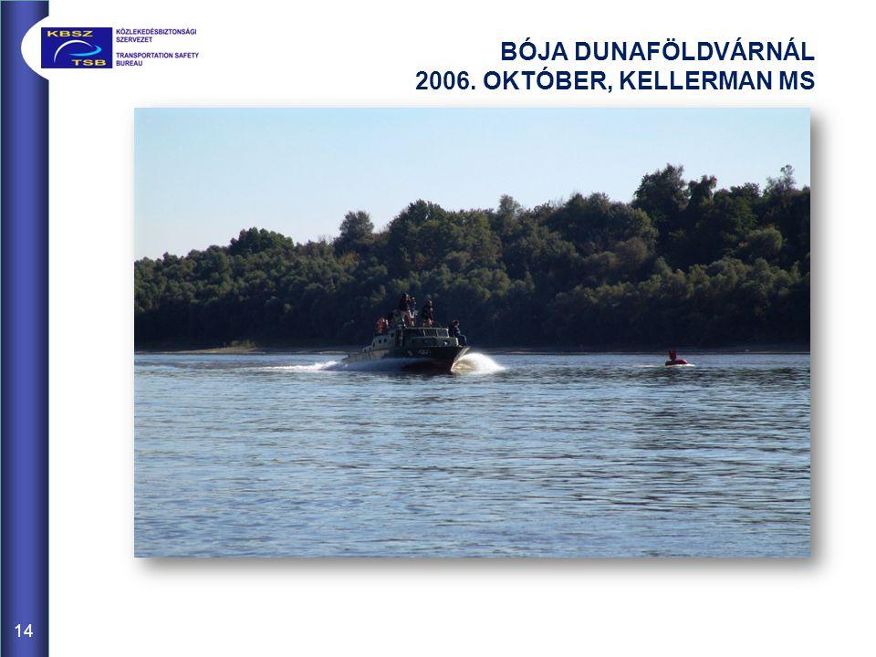 BÓJA DUNAFÖLDVÁRNÁL 2006. OKTÓBER, KELLERMAN MS 14