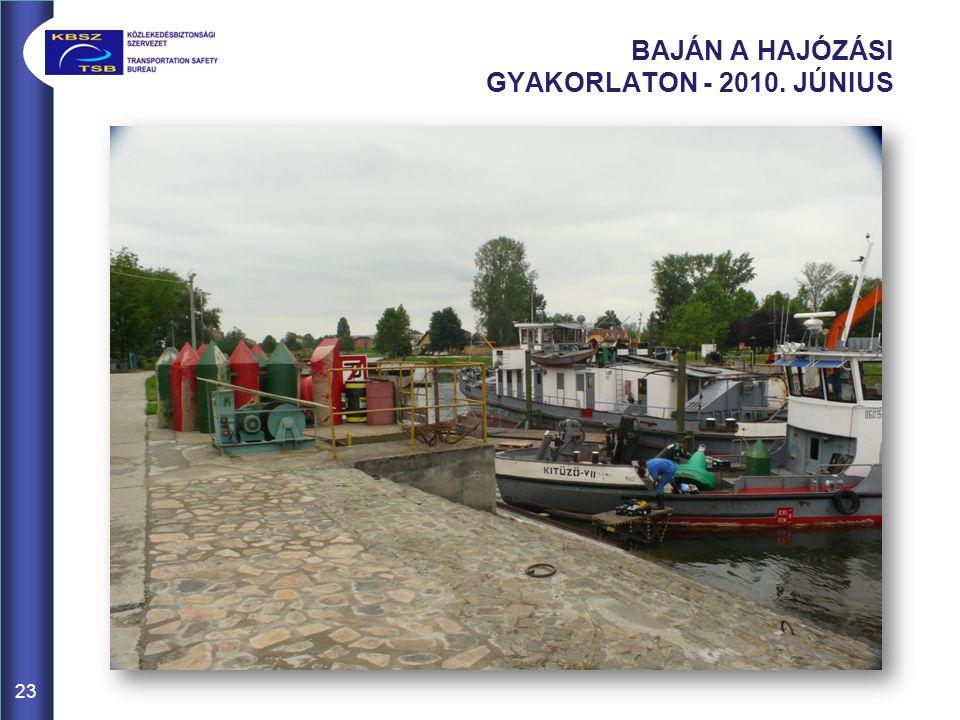BAJÁN A HAJÓZÁSI GYAKORLATON - 2010. JÚNIUS 23