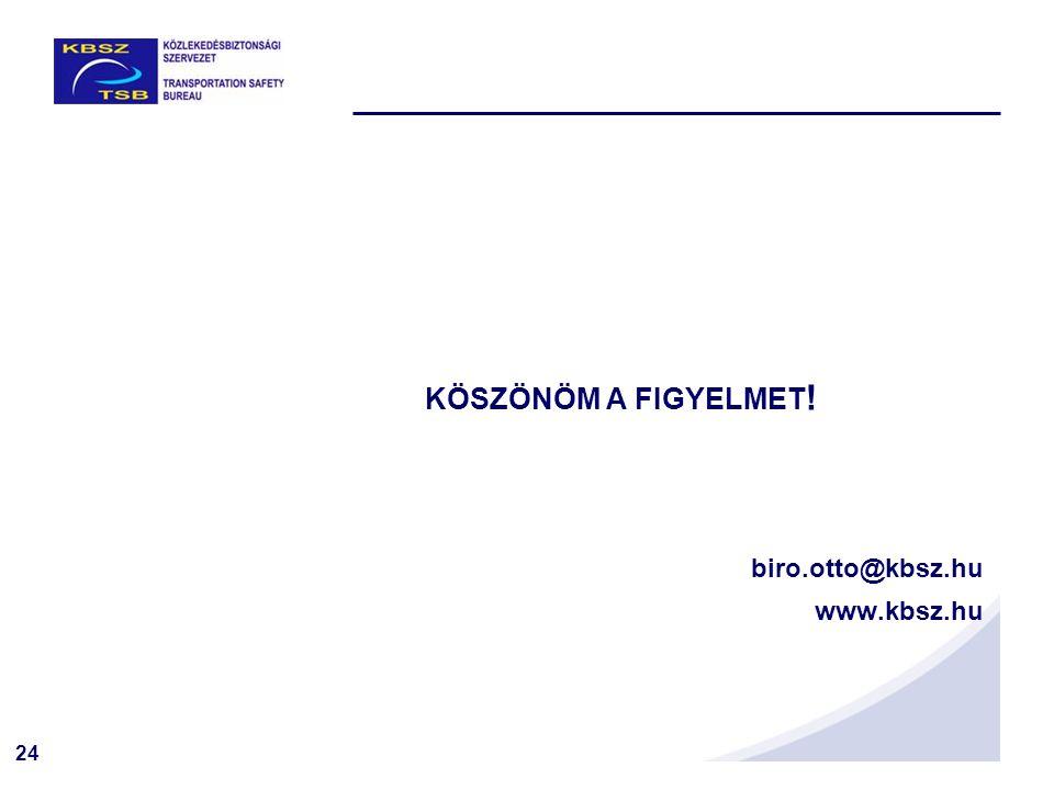 24 KÖSZÖNÖM A FIGYELMET ! biro.otto@kbsz.hu www.kbsz.hu