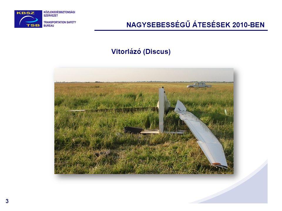 3 Vitorlázó (Discus) NAGYSEBESSÉGŰ ÁTESÉSEK 2010-BEN