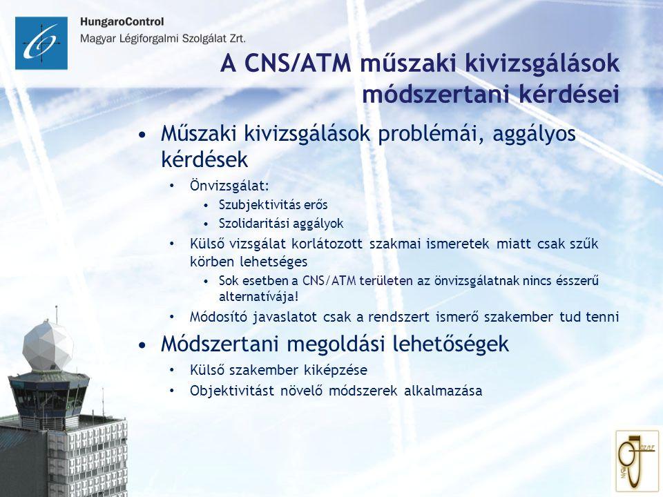 A CNS/ATM műszaki kivizsgálások módszertani kérdései Műszaki kivizsgálások problémái, aggályos kérdések Önvizsgálat: Szubjektivitás erős Szolidaritási