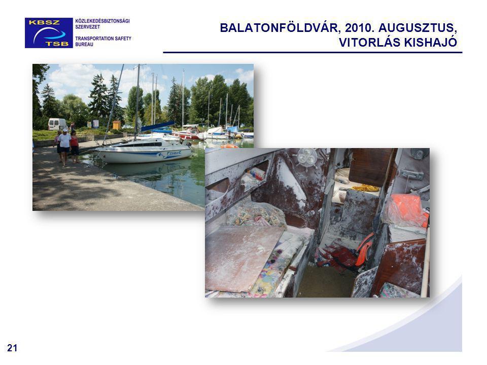 21 BALATONFÖLDVÁR, 2010. AUGUSZTUS, VITORLÁS KISHAJÓ