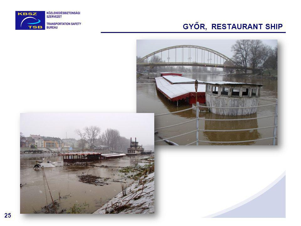 25 GYŐR, RESTAURANT SHIP