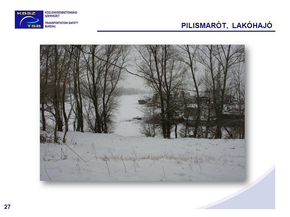 27 PILISMARÓT, LAKÓHAJÓ