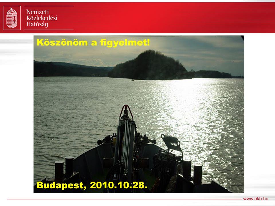 Köszönöm a figyelmet! Budapest, 2010.10.28.