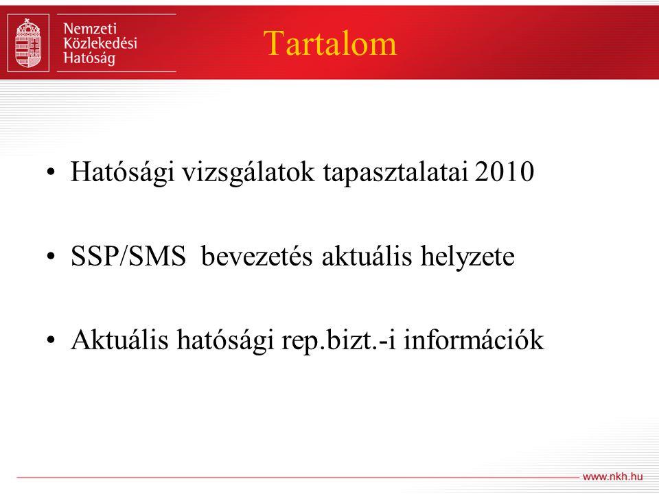 A HATÓSÁGI VIZSGÁLATOK TAPASZTALATAI 2010 JOGSZABÁLYI HÁTTÉR -A légiközlekedésről szóló 1995.