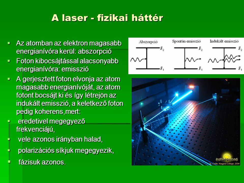 Az indukált emisszió segítségével lehetővé válik tehát a fényerősítés.