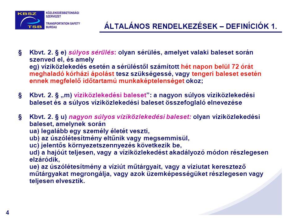 4 ÁLTALÁNOS RENDELKEZÉSEK – DEFINÍCIÓK 1. §Kbvt. 2.